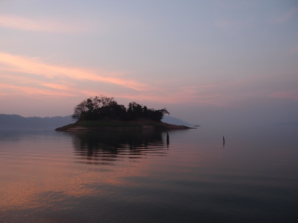 Camping on the secret islands in Ang Nam Ngum Lake